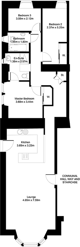 Panacea Property: Inverallan Apartment 1 Floorplan